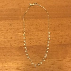 Carolee Delicate Silver Tone Faux Pearl Necklace